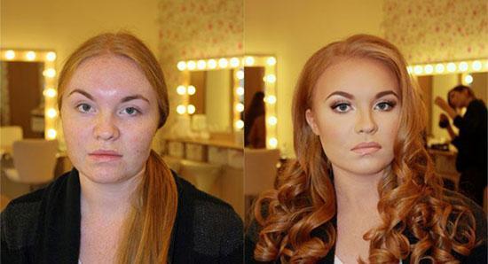 تصاویری از معجزه آرایش در زیبایی زنان!