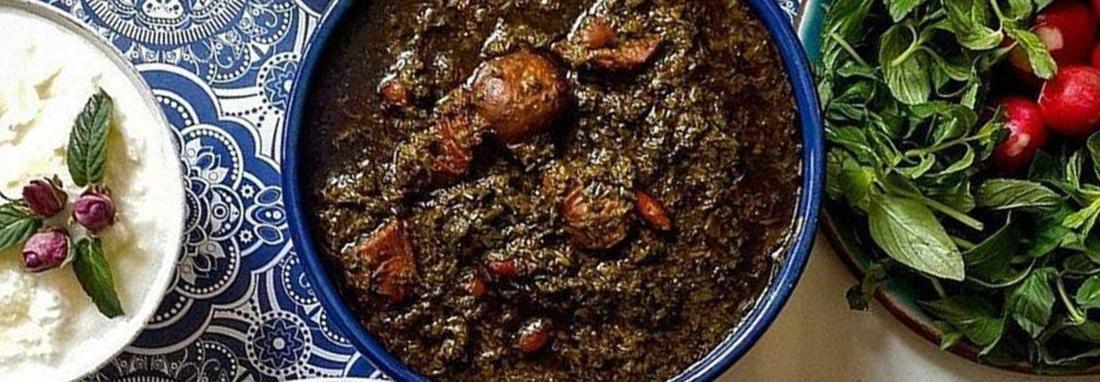 دستور پخت خورشت قورمه سبزی برای 100 نفر یا بیشتر