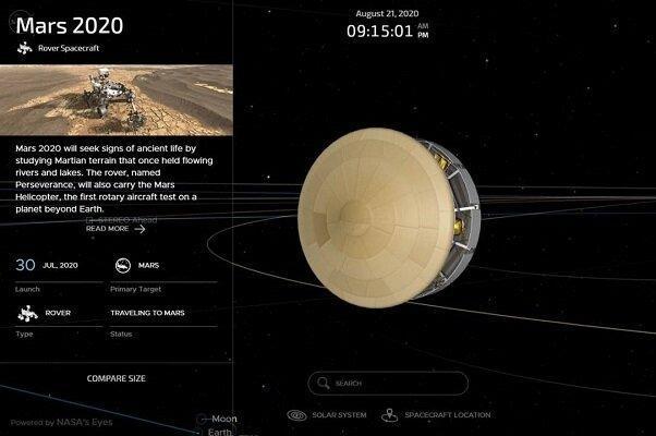 مشاهده لحظه به لحظه سفر مریخ نورد ممکن شد